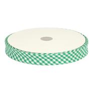 Bedrucktes Band - Schrägband Karo grasgrün 7440/761