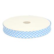 Band geruit - Biasband ruitje Lichtblauw 7440/114