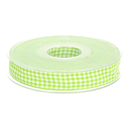 Band - Sierband geruit (10 mm) lime/wit 1843-547