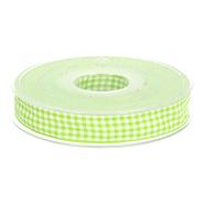 Sierband* - Sierband geruit (10 mm) lime/wit 1843-547