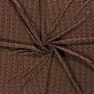 95% viscose, 5% elastan - NB21 16057-028 Tricot bloemen donkergroen