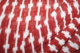 Laagjes kleding stoffen - NB21 15210-057 Voile kreuk brique