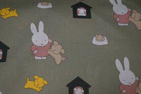 Babyzimmerstoff - Ptx21 661002-62 Baumwolle Miffy Oliv