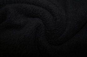 Polytex stoffen - Ptx 997047-999 Fleece katoen zwart