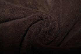 50% Baumwolle, 50% Polyester - Ptx 997049-361 Rekbare badstof donkerbruin op=op