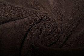 Polytex stoffen - Ptx 997049-361 Rekbare badstof donkerbruin op=op