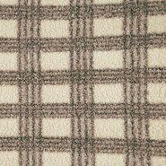 Braune Stoffe - KN21 18025-100 Boucle Monica ruit taupe
