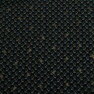 Doorschijnende stoffen - KN21 18406-213 Yoryo chiffon foil graphic blauw