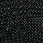 Laagjes kleding stoffen - KN21 18406-213 Yoryo chiffon foil graphic blauw