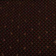 Oranje stoffen - KN21 18406-455 Yoryo chiffon foil graphic terra