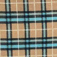Beige stoffen - KN21 18468-320 Gekookte wol Valentina beige/blauw