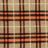 Beige stoffen - KN21 18468-500 Gekookte wol Valentina beige/oranje