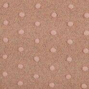 Deken - KN21 18475-093 Plain fluffy dots oudroze