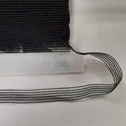 Nieuwe fournituren - Rimpelelastiek 15 mm Zwart F126-01
