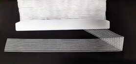 Nieuwe fournituren - Rimpelelastiek 35 mm Wit F126-02