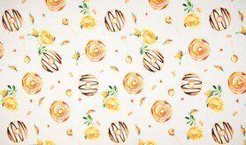 Baumwolle mit Elastan - K50025-083 Tricot donuts geel
