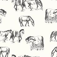 Nooteboom Trikot - NB21 16443-051 Tricot digitaal paarden off-white