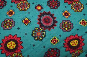 Baumwolle mit Elastan - KC2902-111 Tricot fantasie turquoise
