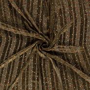 Doorschijnende stoffen - NB21 16274-027 Chiffon bedrukt dierenprint olijfgroen