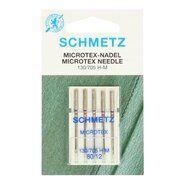 Zilveren stoffen - Schmetz Naalden Microtex 80/12