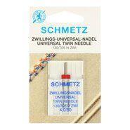 Silberne Stoffe - Schmetz Zwillings-Nähmaschinennadel 4.0/80