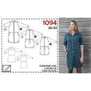 Diverse merken stoffen - It's a fits 1094 overhemd jurk, lange blouse