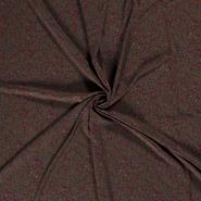 Doorschijnende - NB21 16272-054 Chiffon bedrukt stippen bruin/taupe