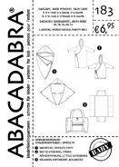Nähmuster - Abacadabra Muster 183 Badeponcho, Bademantel, Wickeltasche