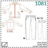 Naaipatronen - It's a fits 1081: herenpatroon jack en broek