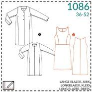 Nähmuster - It's a fits 1086: lange blazer, jurk