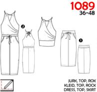 Naaipatronen - It's a fits 1089: jurk, top, rok