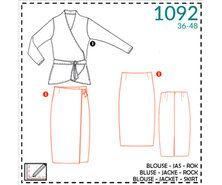 Nähmuster - It's a fits 1092: blouse, jas, rok