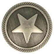 Knopen* - Knoop Metaal Ster Donker Nickel 5657-36-BNI