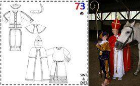 Nähmuster - Abacadabra patroon 73 Sint en Piet (maat 92 tot 176)