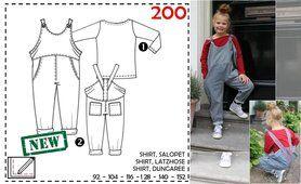 Abacadabra - Abacadabra patroon 200: shirt, salopet