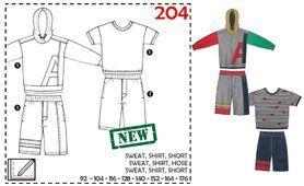 Nähmuster - Abacadabra patroon 204: sweat, shirt, short