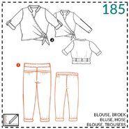 Naaipatronen - Abacadabra patroon 185: blouse, broek
