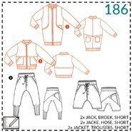 Naaipatronen - Abacadabra patroon 186: jack, broek, short