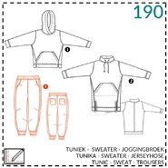 Abacadabra - Abacadabra Muster 190: Tunik, Sweater, Jogginghose