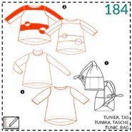 Nähmuster - Abacadabra patroon 184: tuniek, tas