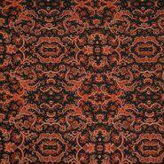 Laagjes kleding stoffen - KN 21/22 18181-445 Bubble chiffon bandana paisley oranje