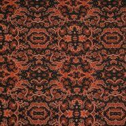 Orange - KN 21/22 18181-445 Bubble chiffon bandana paisley oranje