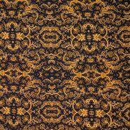 Laagjes kleding stoffen - KN 21/22 18181-570 Bubble chiffon bandana paisley geel