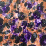 Orange - KN 21/22 18188-880 Viscose digitaal panterprint oranje/paars