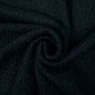 Gilet - KN21/22 0763-999 Bouclé zwart