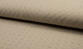 Beige stoffen - KC 8293-052 Bambino embroidery sand