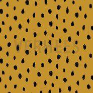 Gelbe Stoffe - VH 7761-017 Soft Sweatjersey dots oker