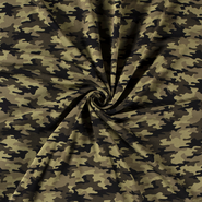 Leger motief - NB 21/22 16551-027 French Terry camouflage khaki