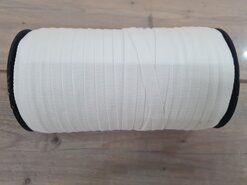 Stoffe Ausverkauf - ACTIE Keperband 150 meter per rol wit 10mm