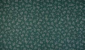 Festlicher Stoff - K15045-025 Kerst katoen blaadjes groen